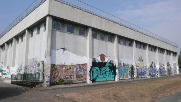 Primo Liceo Artistico muro palestra PRIMA 1