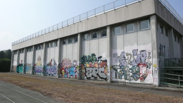 Primo Liceo Artistico muro palestra PRIMA 2