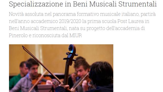 Articolo GDM accademia musica pinerolo